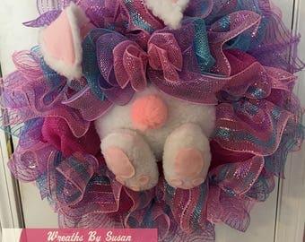 Bunny Butt Easter Wreath