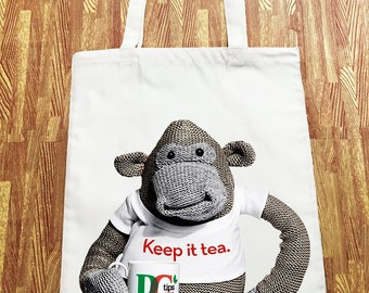 PG Tips Monkey Tote Canvas Shopper Bag