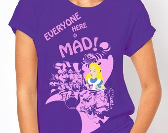 Disney's Alice in Wonderland: Mad Hatter's Tea Party Women's T Shirt