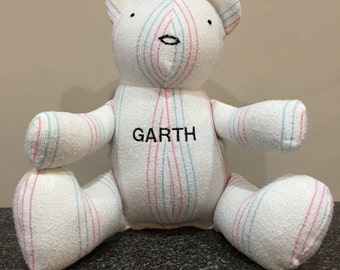 Hospital/Receiving Blanket Bear - Personalized Memory Bear