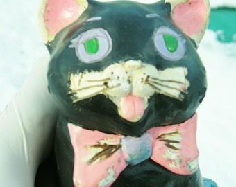 Antique Chalk-ware Cat Bank