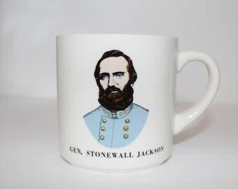 Vintage General Stonewall Jackson Ceramic Mug