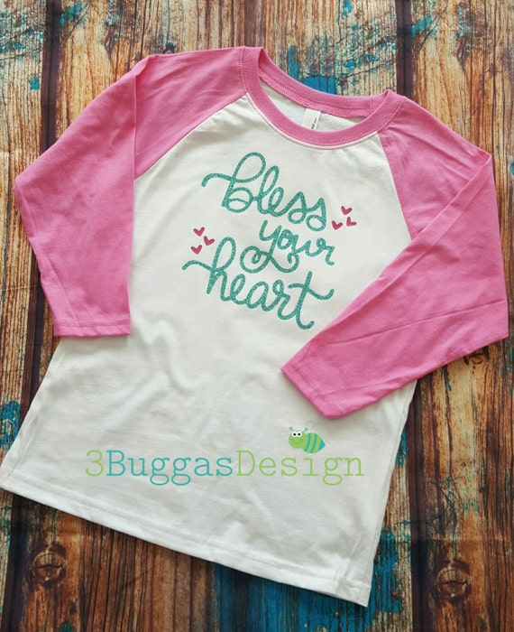 Girls Valentine shirt/Pretty Valentine top/Girl Valentines Day/Valentines outfit/mommy and me valentines/bless your heart shirt