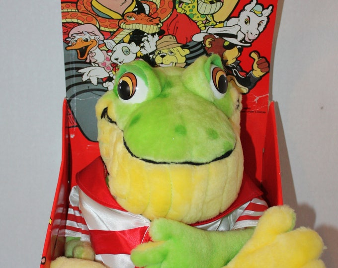 Michael's Pets Uncle Tookie The Frog Jackson Plush Toy in box Ideal 1987 Rare