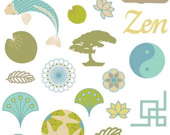 Board of 31 Meditation - Zen - Zen Puffies Stickers stickers