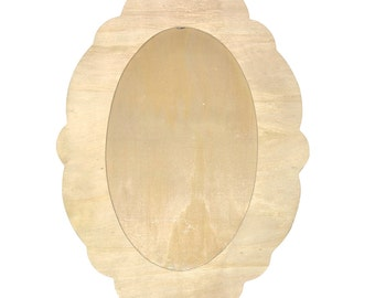 Frame oval wooden to decorate 42 x 30 cm - frame wooden - door Photo - frame wall
