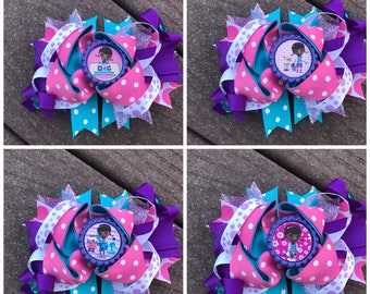 Doc McStuffins bow doc mcstuffins bows doc mcstuffins birthday bow doc mcstuffins birthday doc mcstuffins outfit