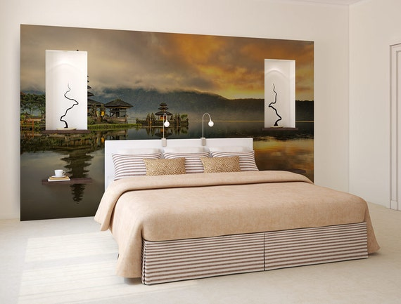 Orange sky wallpaper peel and stick photo wall mural for Orange peel and stick wallpaper