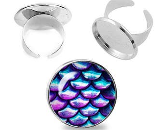 Iridescent Scales Ring Adjustable ring Mermaid Scales Fantasy Ring Iridescent LavenderJewelry Fanboy Fangirl