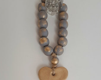 Gray Tantinet Series Bibelot Blessing Beads|Home Decor|Hand Painted|Gift