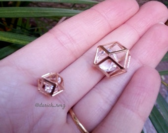 Hexagon with crystal