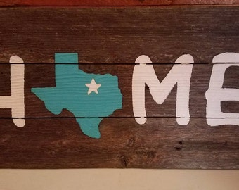 Custom State Home Rustic Reclaimed Wood Decor Sign