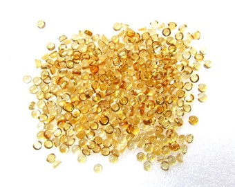 10 pcs Lot 3 mm CITRINE Round Cabochon Smooth polished gemstone
