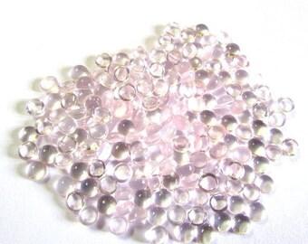 10 Pieces Lot 5mm ROSE QUARTZ Round Cabochon Smooth polished gemstone