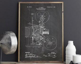 Vintage Projector, Cinema Printable, Film Projector, Movie Art Film, Movie Room Art, Movie Art Cinema,Cinema Projector,Art, INSTANT DOWNLOAD