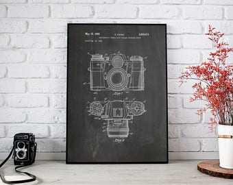 Camera Patent Poster, Camera Wall Poster, Camera Art Poster, Camera Wall Print, Vintage Camera Decor, Camera Poster, Decor, INSTANT DOWNLOAD