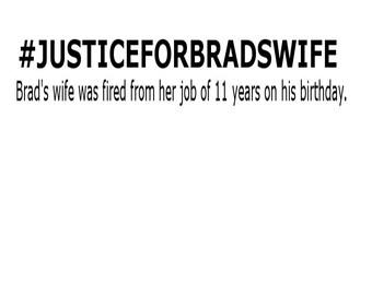 JusticeForBradsWife funny shirt