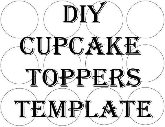 blank cupcake topper template printable diy 2 1  2 inch round