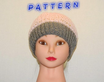 Pink and  Grey Ribbed Beanie,women,teens,girls,snug fitting,comfortable