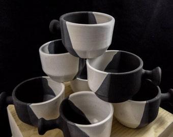 Black and White Shaving Mugs