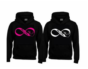 INFINITY Buck and Doe Hoodies with your NAMES