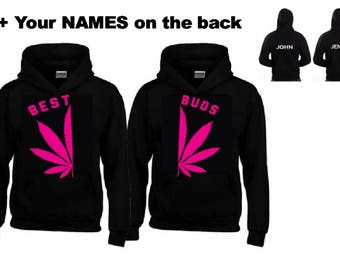 BEST - BUDS PINK Hoodies+Your name or other text
