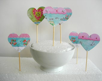 9 Cupcake toppers or dessert.