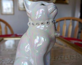 Noble Iridescent Cat Statue