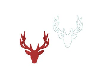 Embroidery file Merry Christmas Moose head