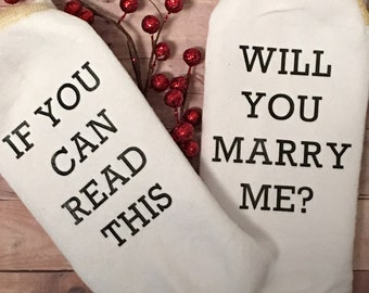 Will You Marry Me? Mens Socks