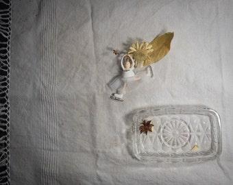 Italian glass butter dish/marmellatiera