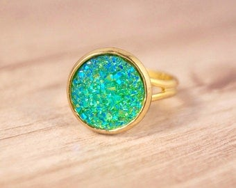 Gold-plated ring 'Patience'