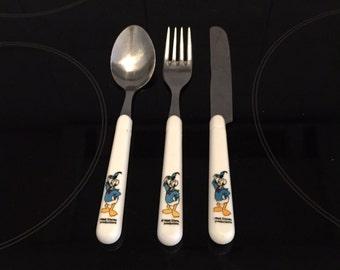 Donald Duck bestek Walt Disney France bestek tableware kids silverware