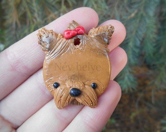 Unique Yorkshire Terrier Dog ID Tag - Custom Made With Your Dog's Name - Pet Lover Gift