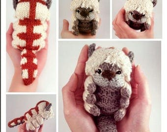 Appa Knitted Amigurumi PDF Pattern - From Avatar the Last Airbender