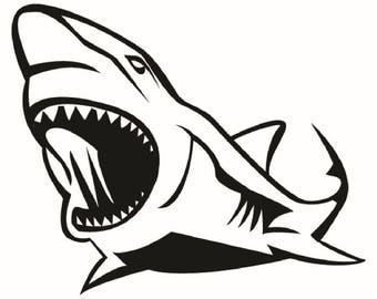 Great White Shark #8 Jaws Ocean Man Eating Killer Fish .SVG .EPS Instant Digital Clipart Vector Cricut Cut Cutting Download Printable File