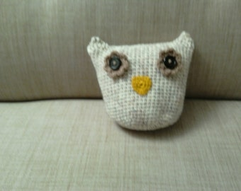 super soft snuggly owl toy/small cushion