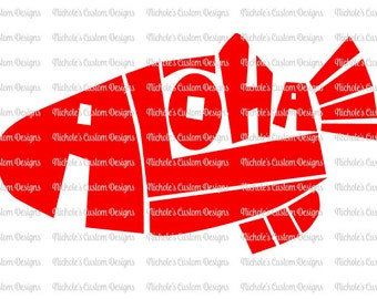 Aloha Fish SVG File for Silhouette or Cricut