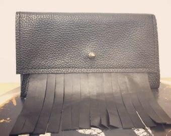 Fringe and stud wallet