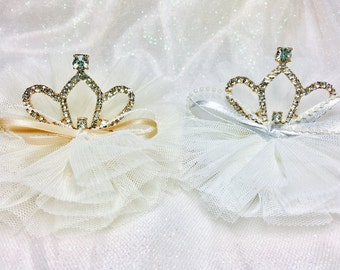 Sale Birthday crown hair clips gold silver baby girls hair clips birthday party crown hair accessories crown clips baby girls wedding