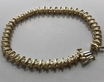 Slither Diamond Tennis Bracelet