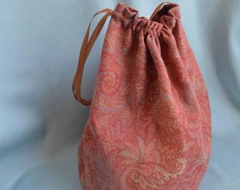 Large Civil War Era/Victorian Bag/Knitting bag