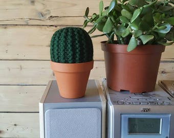 Cactus knit, wool, the Loleries Cactus, handmade, decoration of House, fake plant