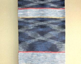 Handwoven tapestry of Japanese Indigo dye cotton