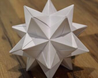 Star Sculpture, Modular Origami, Unique Decoration, Home Accent, Solid Color