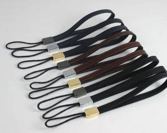 1Pcs Genuine Leather Wristlet Purse Strap, Metal Clasp Wrist Replacement Strap, Clutch Bag Wallet Handle Strap, Hand Loop Pouch Camera Chain