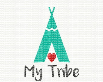 Love My Tribe Embroidery Design, Love My Tribe embroidery, Love My Tribe stitch, embroidery, Love My Tribe, love, heart, tribal, Tribe