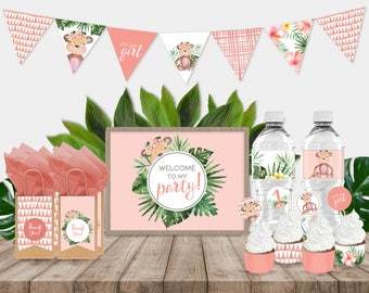 Little Monkey Party Printables Pack