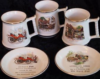 Masonic Memorabilia - Prince William Tankards and Plates.
