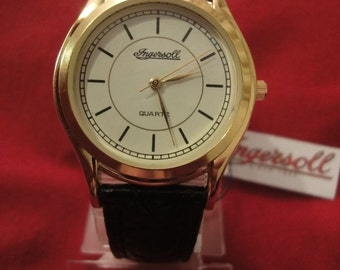 INGERSOLL classic ladies watch with leather black strap